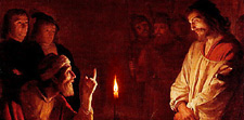 Christ Before Pilate by Van Honthorst, 1617   (Permission by Mark Harden; http://www.artchive.com)
