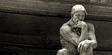 The thinker at the top of Rodin's Gates of Hell